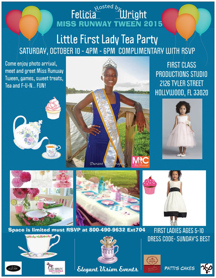 little first lady tea partyb